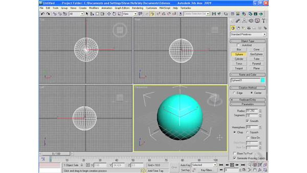 Understanding 3D space: 3ds Max 2009 Essential Training