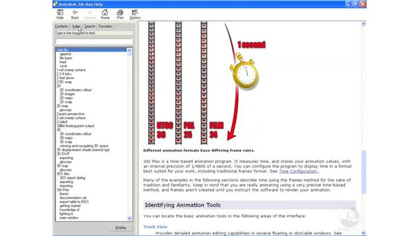 Getting help: 3ds Max 2009 Essential Training