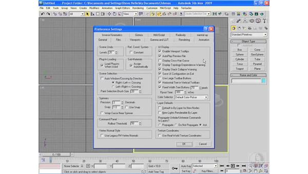 Customizing the interface: 3ds Max 2009 Essential Training