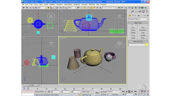 Starting a new project: 3ds Max 2009 Essential Training