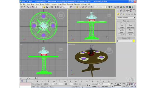 Saving and exporting files: 3ds Max 2009 Essential Training