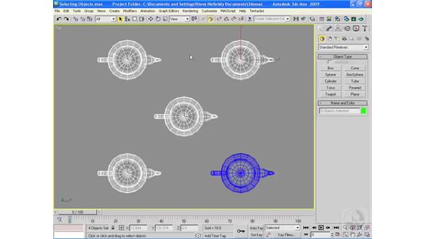 Selection techniques: 3ds Max 2009 Essential Training