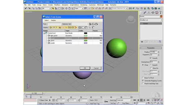 Naming objects: 3ds Max 2009 Essential Training