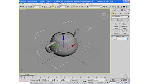 Reading the Transform Gizmo: 3ds Max 2009 Essential Training