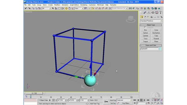 Moving objects: 3ds Max 2009 Essential Training