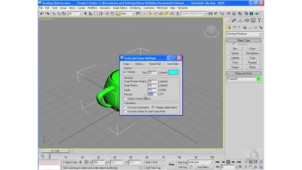 Scaling objects: 3ds Max 2009 Essential Training