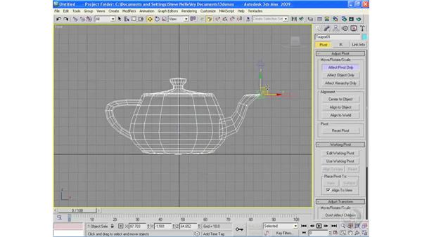 Introducing pivot points: 3ds Max 2009 Essential Training