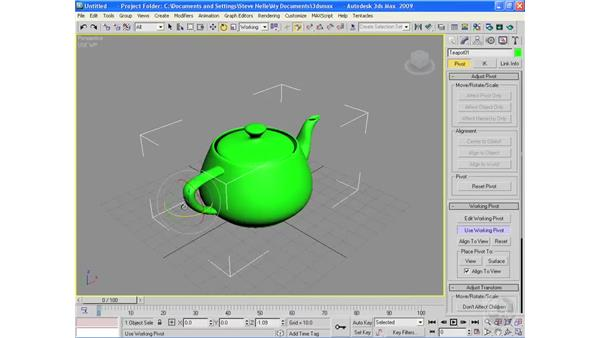 Working in Pivot mode: 3ds Max 2009 Essential Training