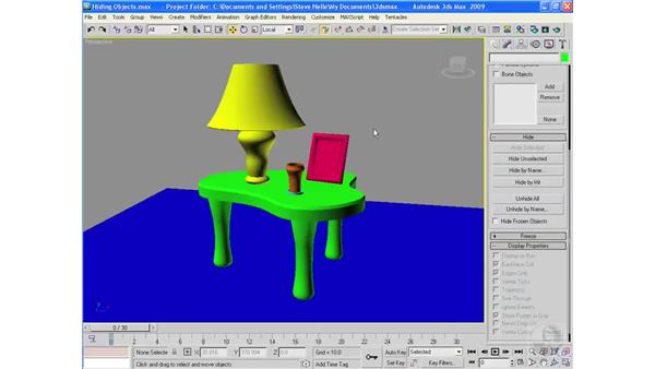 Hiding and freezing objects: 3ds Max 2009 Essential Training