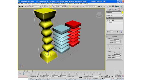 Cloning objects: 3ds Max 2009 Essential Training