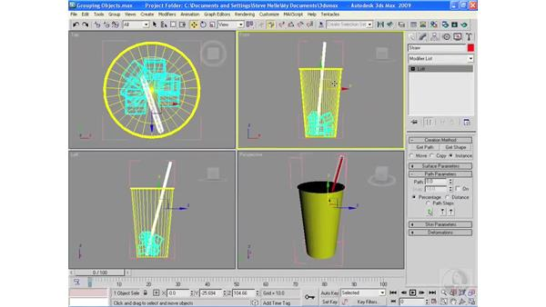 Grouping objects: 3ds Max 2009 Essential Training