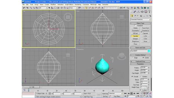 Creating extended primitive objects: 3ds Max 2009 Essential Training
