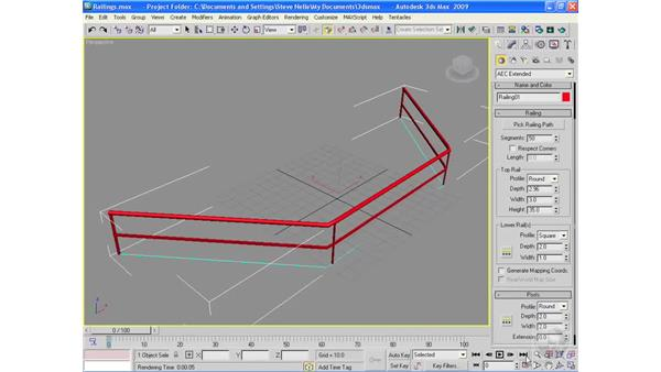 Creating architectural objects pt. 3: Railings: 3ds Max 2009 Essential Training