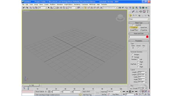 Creating architectural objects pt. 4: Stairs: 3ds Max 2009 Essential Training