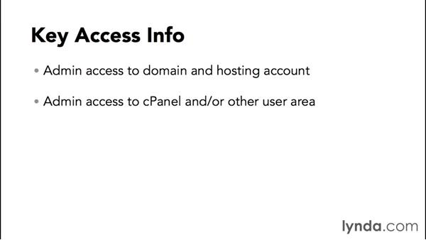 Getting access info from your host: WordPress and Genesis DIY: Setting Up Genesis