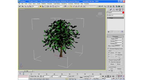 Creating architectural objects pt. 5: Foliage: 3ds Max 2009 Essential Training