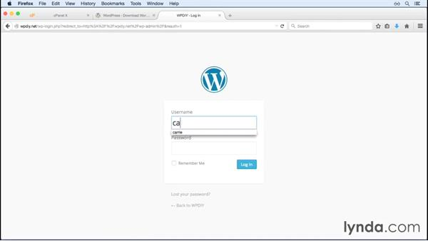 Logging in to WordPress for the first time: WordPress and Genesis DIY: Setting Up Genesis