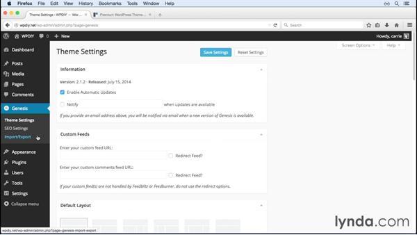 Themes and plugins: WordPress and Genesis DIY: Setting Up Genesis