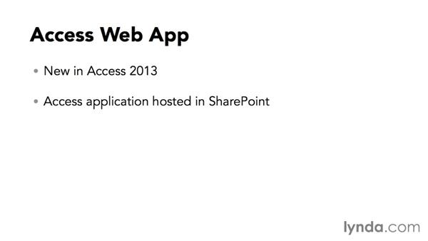 Introduction to Access web apps: Creating Access Web Apps in SharePoint 2013