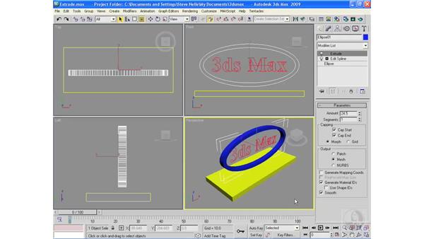 Extruding objects: 3ds Max 2009 Essential Training