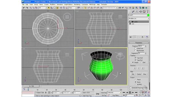 Lathing objects: 3ds Max 2009 Essential Training