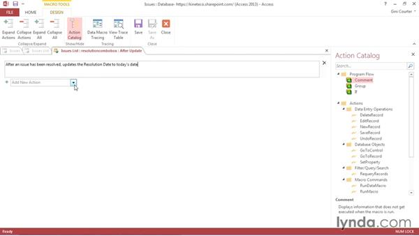 Creating a simple web macro: Creating Access Web Apps in SharePoint 2013