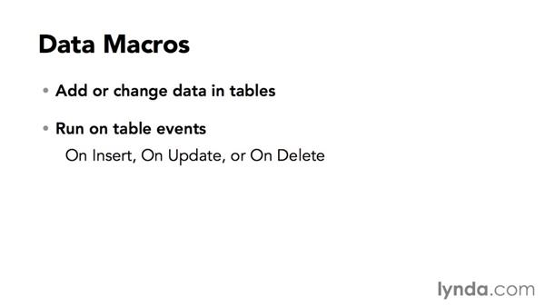 Understanding data events and data macros: Creating Access Web Apps in SharePoint 2013