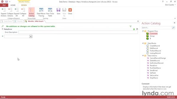 Creating a simple data macro: Creating Access Web Apps in SharePoint 2013