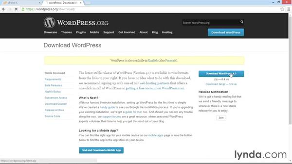 Downloading and uploading WordPress: WordPress DIY: Setting Up WordPress
