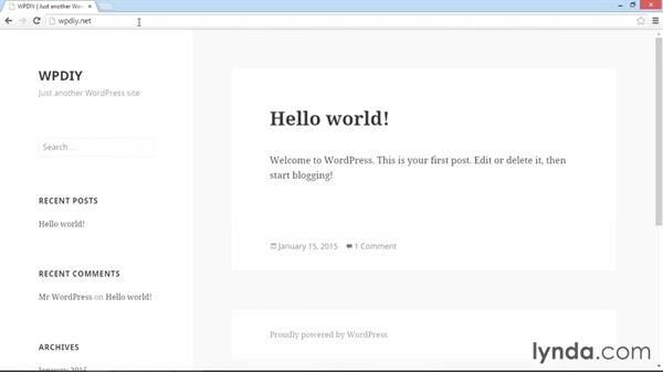 Logging in to WordPress for the first time: WordPress DIY: Setting Up WordPress