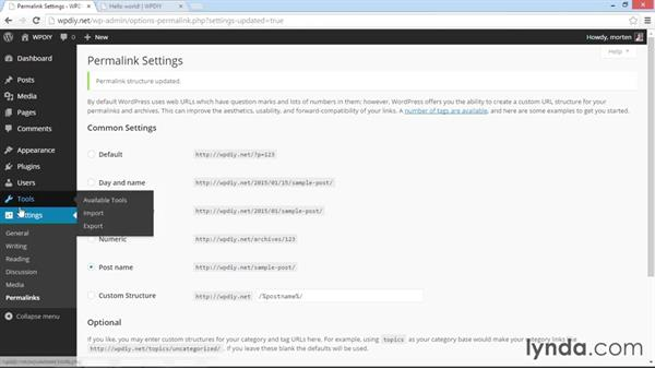 First-time configuration of WordPress: WordPress DIY: Setting Up WordPress