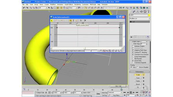 Loft deformations: 3ds Max 2009 Essential Training