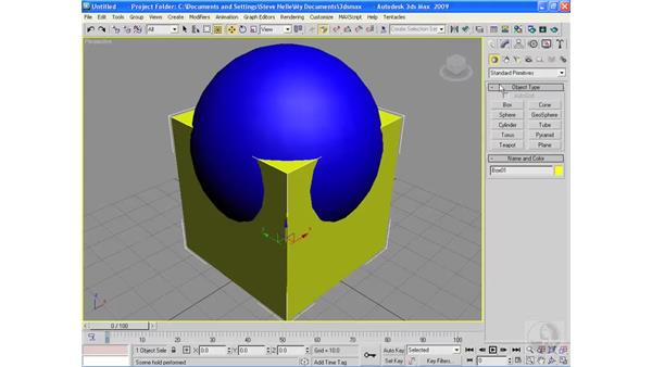 The Boolean command: 3ds Max 2009 Essential Training