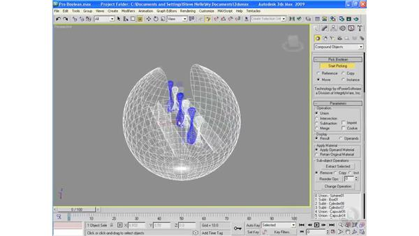 The Pro Boolean command: 3ds Max 2009 Essential Training