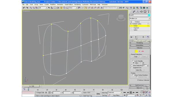 Patch modeling: 3ds Max 2009 Essential Training