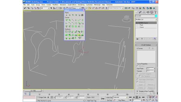 NURBS modeling: 3ds Max 2009 Essential Training