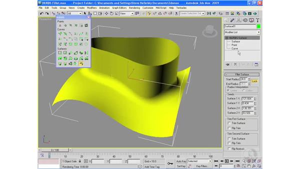 The NURBS Fillet command: 3ds Max 2009 Essential Training