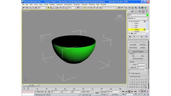 Surface normals: 3ds Max 2009 Essential Training
