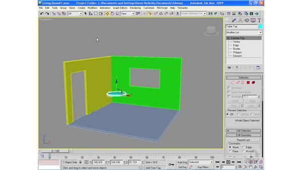 Building a table with legs: 3ds Max 2009 Essential Training