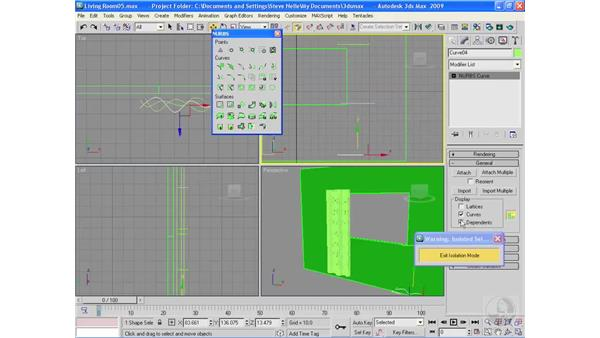 Building curtains: 3ds Max 2009 Essential Training