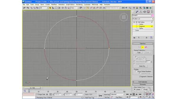 Sub-object selection: 3ds Max 2009 Essential Training