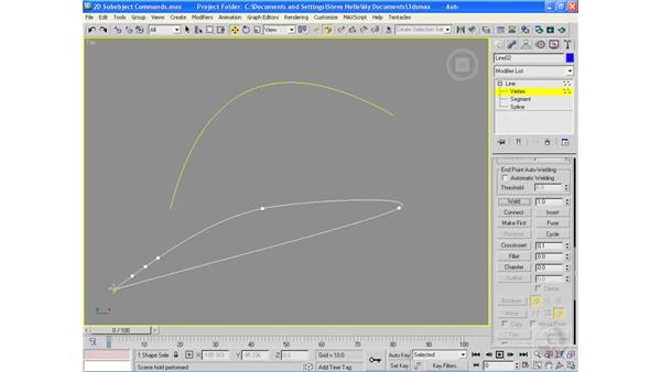 2D sub-object modeling commands: 3ds Max 2009 Essential Training