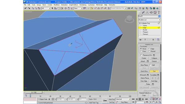 3D sub-object modeling commands: 3ds Max 2009 Essential Training