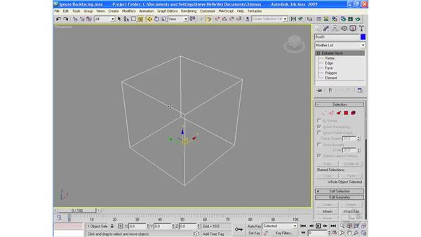 Ignore Backfacing: 3ds Max 2009 Essential Training