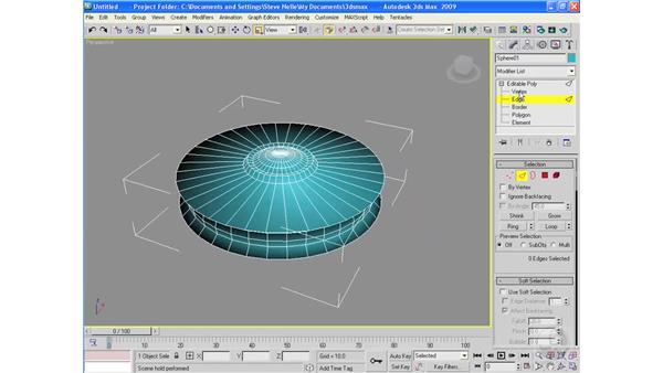 Project: Building a low polygon flying saucer: 3ds Max 2009 Essential Training