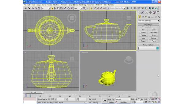 What is the modifier stack?: 3ds Max 2009 Essential Training