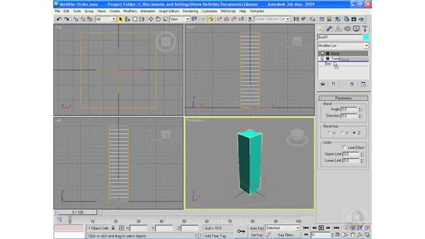 Understanding the importance of modifier order: 3ds Max 2009 Essential Training