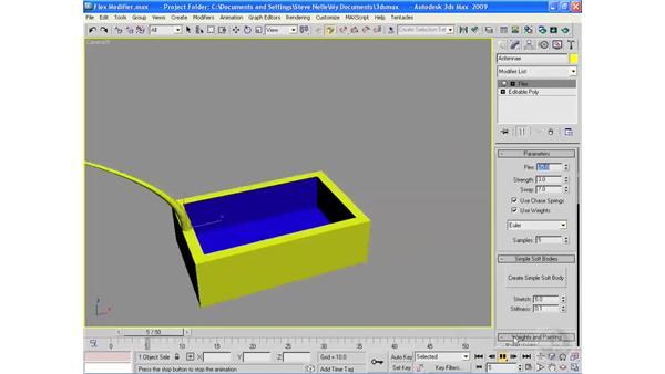The Flex modifier: 3ds Max 2009 Essential Training