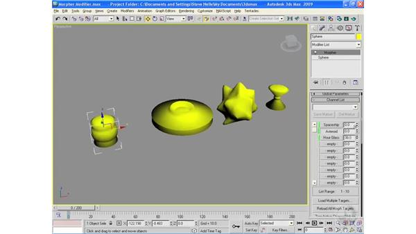 The Morpher modifier: 3ds Max 2009 Essential Training