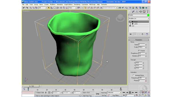 The Noise modifier: 3ds Max 2009 Essential Training